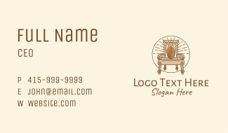 Coffee Throne Cafe Business Card