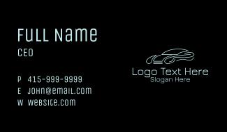 Modern Sports Car  Business Card