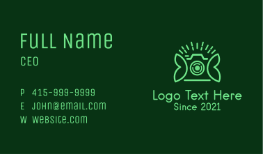 Wings Camera Letter Business Card