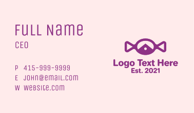 Purple Candy Snack Business Card
