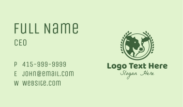 Farm Cattle Badge Business Card