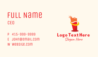 Juice Drinking Glass Business Card