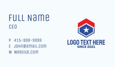 Hexagon Patriot House  Business Card
