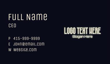 Elegant Moonlight Signage Wordmark Business Card