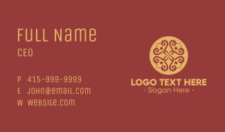 Ornamental Flower Spa Business Card