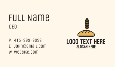 Wheat French Bread Business Card