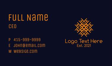 Orange Floral Tiling Business Card