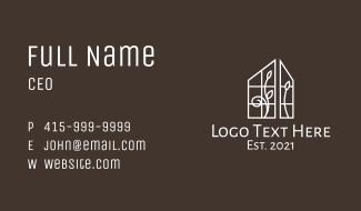 House Window Decor Business Card