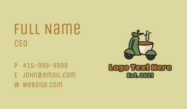 Coffee Motorcycle Business Card