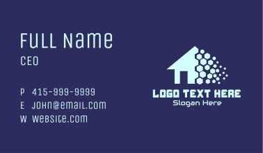 Pixel Realty House Business Card