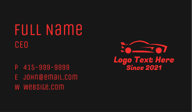 Red Race Car Business Card