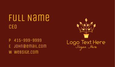 Crystal Jewelry Plant  Business Card