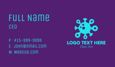 Neon Virus Locator Business Card