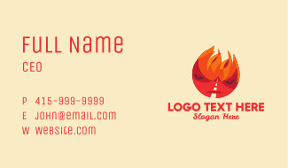 Flame Road Character Business Card