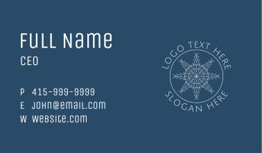 White Frost Seal Business Card