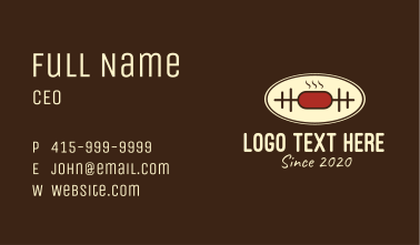Meat Barbeque Cooking Business Card