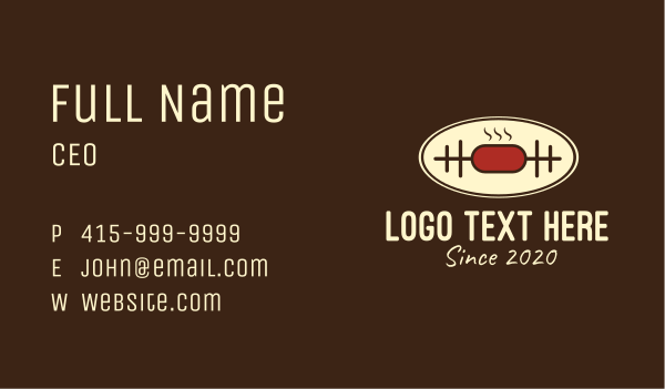 deli - Meat Barbeque Cooking Business card horizontal design