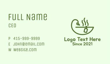 Duck Tea Cup Business Card