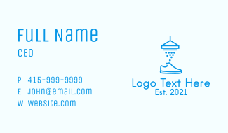 Blue Shoe Cleaner  Business Card