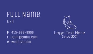 Monoline Sneaker Business Card