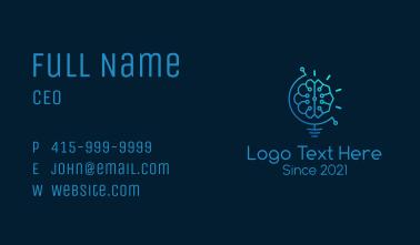 Digital Brain Bulb Business Card