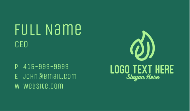 Abstract Eco Green Leaf Business Card