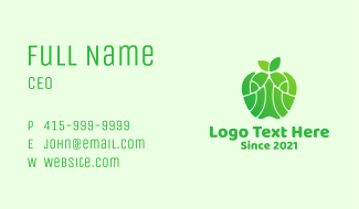 Green Healthy Apple Business Card