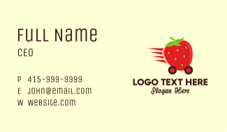 Strawberry Express Delivery Business Card