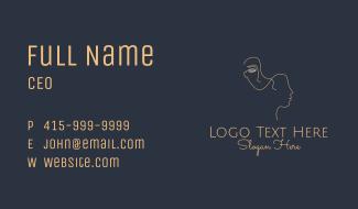 Minimalist Facial Care Business Card