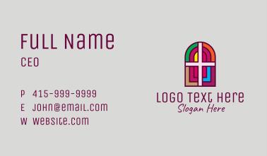 Religious Church Cross Business Card