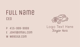 Minimalist Retro Car  Business Card