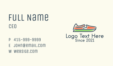 Athletic Shoes  Business Card