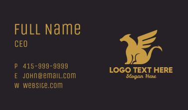 Golden Dragon Business Card