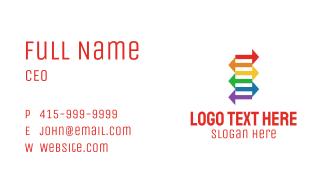 Rainbow Arrows Exchange Business Card