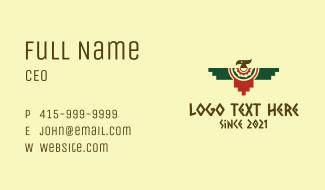 Geometric Quetzalcoatl  Bird Business Card