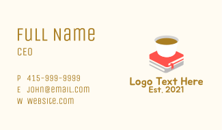 Coffee Book Store Business Card