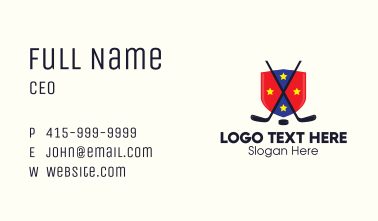 Ice Hockey Team Shield Business Card