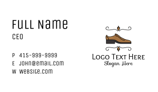 Classic Brown Leather Shoe Business Card