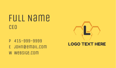 Bee Hive Letter Business Card
