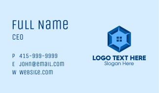 Hexagon Home Real Estate Business Card