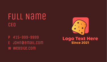 Cheese Bread Slice  Business Card
