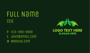 Green Eco Wings Business Card