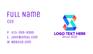 Origami Letter S Business Card