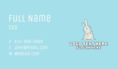Egg Hug Easter Bunny Business Card