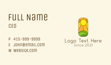 Sunny Valley Mosaic Business Card