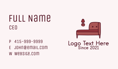 Antique Couch  Business Card
