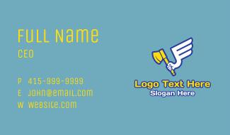 Flying Arm Axe Business Card