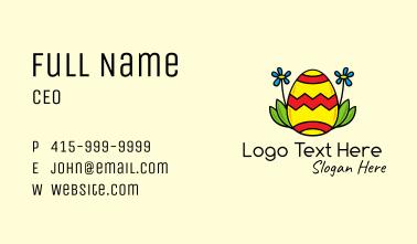 Sunflower Easter Egg Business Card