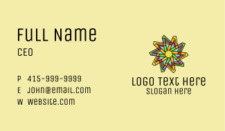 Colorful Flower Pattern Business Card