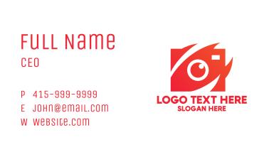 Red Stylish Camera Business Card